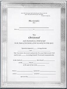 Christening Certificate Christening Certificates For Godparents Silver Elite