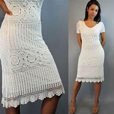 crochet dress vintage 80s dress crochet dress white crocheted lace dress
