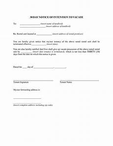 Printable 30 Day Notice To Landlord 30 Day Notice Template Doliquid