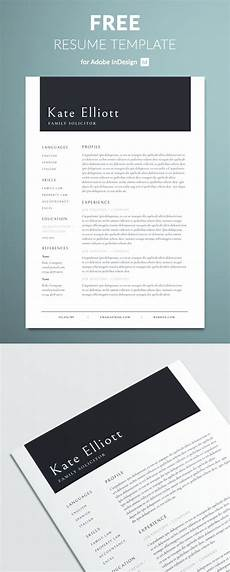 Resume Templates For Indesign Professional Resume Template Free Indesign Templates