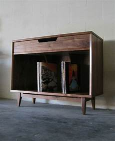 made solid walnut record cabinet by pulp ore