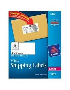 Avery Shipping Labels 5163 White Shipping Labels 5163