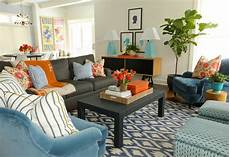 orange hermes throw contemporary living room summer