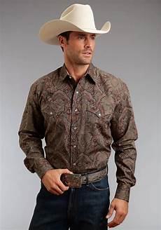 stetson s rugged twill check western snap shirt