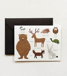 Rifle Paper Co Animal Alphabet Chart Animal Chart Greeting Card Greeting Cards Gift Wrap Etc