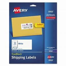 Address Labels Avery Avery Shipping Labels Ave8163 72782081638 Ebay