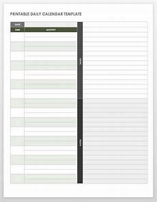 Daily Task Calendar Template Free Printable Daily Calendar Templates Smartsheet