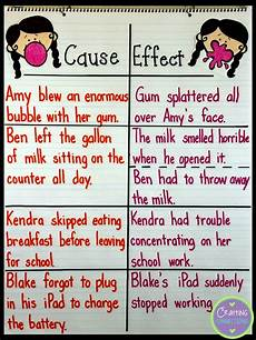 Cause And Effect Chart Cause And Effect Anchor Chart Crafting Connections
