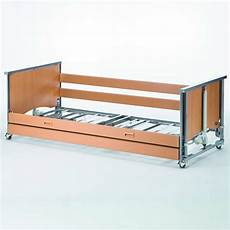 medley ergo profiling bed low with wooden side rails
