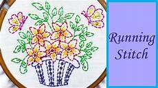 running stitch embroidery design