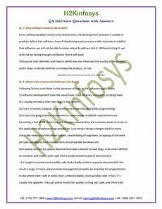 Qa Analyst Interview Questions Qa Analyst Interview Questions And Answers Pdf