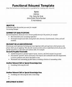 How To Build A Functional Resumes Free 9 Functional Resume Templates In Pdf Ms Word