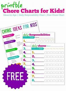 Chore Chart For 6 Year Old Free Printable Chore Charts For Kids Ideas By Age