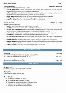 chief accountant duties ahmed c v chief accountant