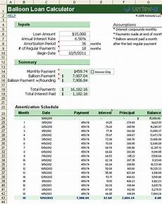 Loan Calculator With Balloon Free Balloon Loan Calculator For Excel Balloon Mortgage