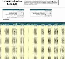 Auto Loan Amortization Table Excel 5 Amortization Schedule Calculators For Excel 174