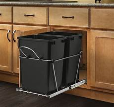 35qt cabinet pull out trash can 2 bin undersink