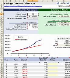 Investment Calculator Excel Free Savings Calculator For Excel