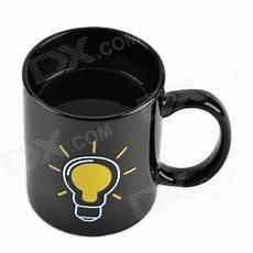 Light Bulb Mug Shining Light Bulb Color Change Thermochromic Cup Mug
