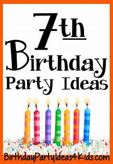 7 Birthday Program 7th Birthday Party Ideas For Seven Year Olds