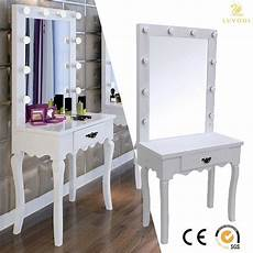 Vanity Table Set With Lights White Vanity Makeup Dressing Table Set W Led Lighted
