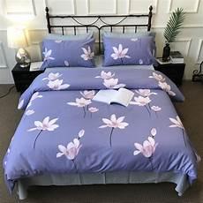 new pattern lotus flower home textiles royal blue bedding
