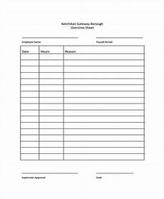 Working Hours Sheet Template Overtime Sheet Template 13 Free Word Pdf Format