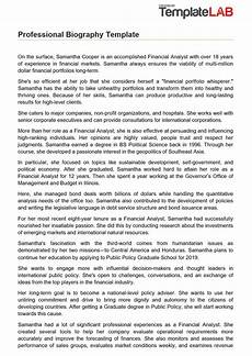 Format For Biography 45 Biography Templates Amp Examples Personal Professional