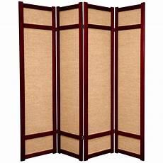 6 ft rosewood 4 panel room divider jkshoji rwd 4p the