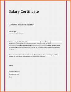 Salary Received Letter Format 8 Salary Certificate Letter Format Word Salary Slip