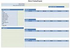 Program Card Fitness Template Fitness Training Program Sheet