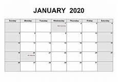 2020 Blank Calendar Pdf Printable 2020 Pdf Calendar Templates Calendarlabs