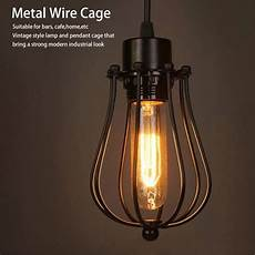 Light Bulb Shades Vintage Lamp Covers Metal Wire Shades Antique Pendant Led