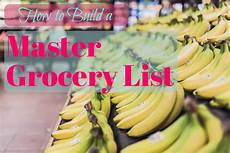 Help Me Make A Grocery List How To Build A Master Grocery List To Make Shopping Quick
