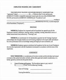 Employee Agreement Form Free 8 Training Agreement Forms In Pdf Ms Word