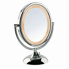 Jerdon Lighted Mirror Jerdon 8 Quot Tabletop 2 Sided Swivel Oval Halo Lighted Vanity