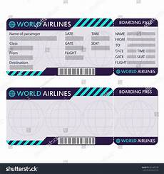 Blank Airline Ticket Template Airline Plane Ticket Boarding Pass Blank Stock Vector