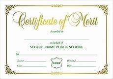 Merit Certificate Sample Certificates A5 Size Certificate Of Merit Landscape A5