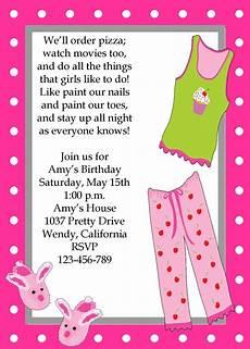 Girl Sleepover Invitations Girls Sleepover Pajama Party Invitation Sleepover
