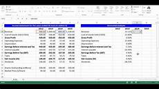 Create An Income Statement Horizontal Analysis For Income Statement Items Using Excel