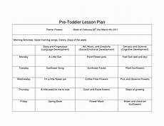 Printable Toddler Lesson Plans Creative Curriculum Blank Lesson Plan Wcc Pre Toddler