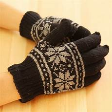 knit gloves fashion new unisex winter wool knit wrist gloves