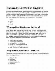 Business English Letter Sample Business Letters In English