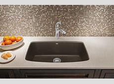 Blanco 441613 Valea Super Single Bowl Silgranit II Undermount Kitchen Sink   Cafe Brown
