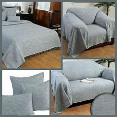 Gray Throws And Blankets For Sofa 3d Image by Grey Handwoven Large Throw Bedspread Sofa Bed Blanket