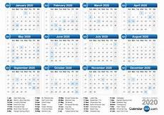 2020 16 Year Calendar 2020 Calendar