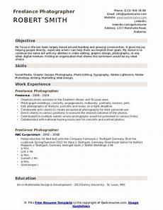 Photography Objective Resume Freelance Photographer Resume Samples Qwikresume