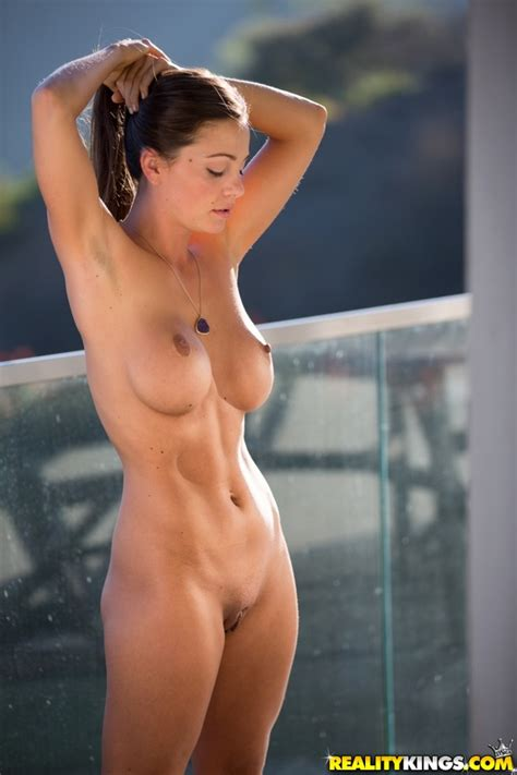 Sexy Brunette In Shower