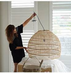 Ikea Woven Pendant Light Pendant Large Handwoven Round Wicker By Hk Living