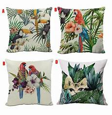 parrot cat sofa cushion cover 43x43cm bed home decoration